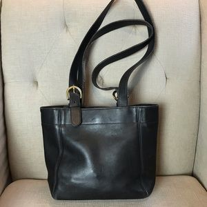 Coach Soho Vintage Waverly Black Leather Tote